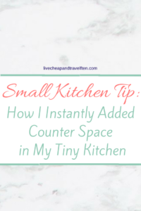 small kitchen tip, adding counter space