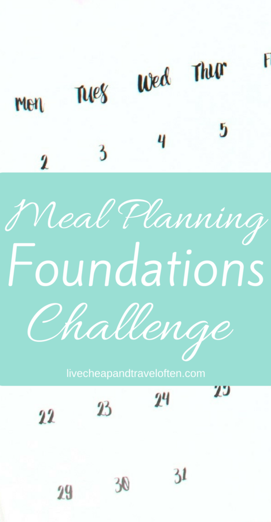 This meal planning challenge will teach you to meal plan quickly and simply, saving you time and money!