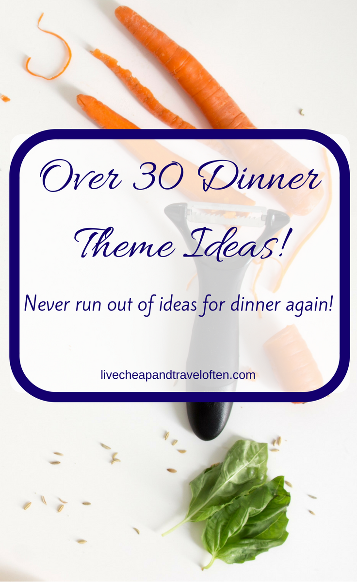 Help Meal Planning With Dinner Themes