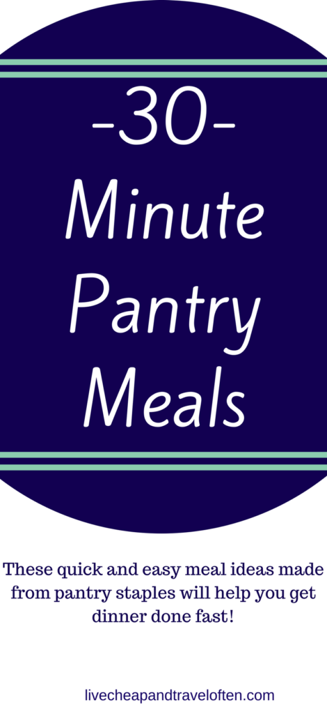 Thirty minute pantry meals with quickroasted chicken make throwing togetehr dinner a breeze!